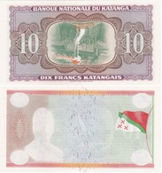 Katanga - 10 Francs 1960 Error UNC Lemberg-Zp - Billets