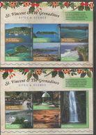 ST. VINCENT, 2017, MNH, SITES & SCENES OF ST. VINCENT AND THE GRENADINES, WATERFALLS, BEACHES, LANDSCAPES, SHIPS, 2 SLTS - Vacances & Tourisme