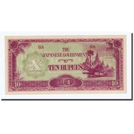 Billet, Birmanie, 10 Rupees, Undated (1942-44), KM:16a, SPL - Myanmar