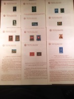 ITALIA11) REPUBBLICA 1963 BOLLETTINI ILLUSTRATIVI N°92/105  Manca N°99 E 105 - 1961-70: Mint/hinged