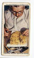 Churchman - 1937 - Treasure Trove - 30 - Cleaning Ancient Egyptian Papyri - Churchman