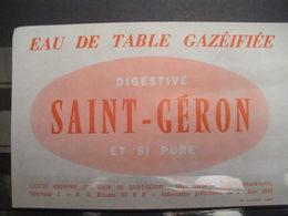 ÉTIQUETTE EAU DE TABLE GAZEIFIEE - Alte Papiere