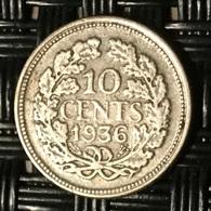 Netherlands 10 Cent 1936 - [ 3] 1815-… : Kingdom Of The Netherlands