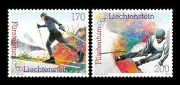 Liechtenstein 2017 Mih. 1884/85 Olympic Winter Games In Pyeongchang. Nordic Skiing. Alpine Skiing MNH ** - Liechtenstein