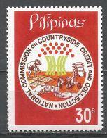 Philippines 1977. Scott #1326 (MNH) Farmer At Work, Money - Philippines