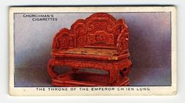 Churchman - 1937 - Treasure Trove - 45 - The Throne Of The Emperor Ch'ien Lung - Churchman
