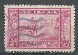 Philippines 1947. Scott #E11 (U) Manila Post Office And Messenger - Philippines