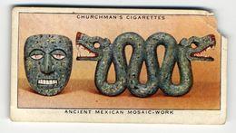 Churchman - 1937 - Treasure Trove - 47 - Ancient Mexican Mosaic-work - Churchman