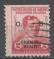 Philippines 1938. Scott #O27 (U) Dr José Rizal - Philippines