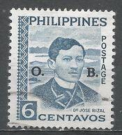 Philippines 1959. Scott #O62 (U) Dr José Rizal * - Philippines