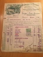 12-4-1926-TAMINES-GEORGES LICUS FRERES-FABRIQUE DE TISSUS-COUVERTES DE LAINE ET DE COTON - 1900 – 1949