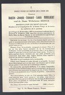 DP MOULAERT ( BRINCK ) MARGUILLIER DE SAINT - GILLES BRUGES ° BRUGGE 1869 + 1946 KERKVOOGD - Devotieprenten