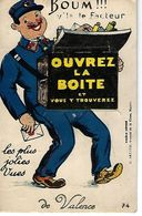 """26 - VALENCE -  Carte à Système """" Boum V'la Le Facteur , Les Plus Belles Jolies Vues De ..."""" - A Systèmes"""