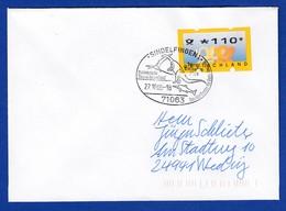 ATM Mi.-Nr. 3.2 Wert 110 Auf Brief Mit So-O SINDELFINGEN Dinosaurier 27.10.2000 - [7] Federal Republic