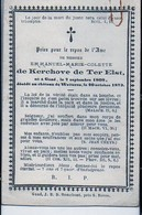 Emmanuel De Kerchove De Ter Elst °1808 Gand Gent +1873 Wetteren De KERCHOVE D'OUSSELGHEM Van Der BRUGGEN - Avvisi Di Necrologio