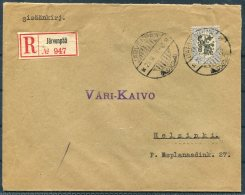 1929 Finland 3m Jarvenpaa Registered Cover - Finland