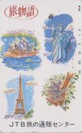 TC Japon / 110-016 - JTB - FRANCE PARIS TOUR EIFFEL STATUE LIBERTE NEW YORK SYDNEY OPERA KOALA Japan Pc - Site 98 - Paysages