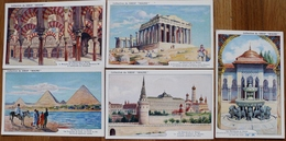 LOT 5 IMAGES PUBLICITAIRES SIROP ROCHE - LES MERVEILLES DU MONDE - Chromos