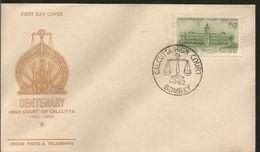 J) 1962  INDIA, CENTENARY HIGH COURT OF CALCUTTA, FDC - India