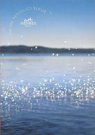 F - NEW !! Large à Carte à Rabat Hermès - Eau Des Merveilles Bleue - Perfume Card -USA - Cartes Parfumées