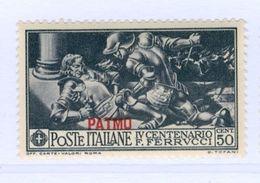 PATMO, PATMOS, ITALIA, ITALY, EGEO, 1930, FRANCOBOLLO NUOVO (MLH*), 50 C. Sass. 14   Scott 13 - Egeo (Patmo)
