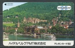 JAPAN Telefonkarte - Germany  - Heidelberg - - Landschaften