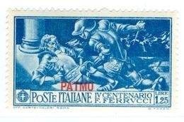 PATMO, PATMOS, ITALIA, ITALY, EGEO, FERRUCCI, 1930, FRANCOBOLLO NUOVO (MLH*), 1,25l. Sass. 15   Scott 15 - Egeo (Patmo)