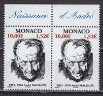 MONACO 2001 - PAIRE N° 2301 - NEUFS** - Monaco