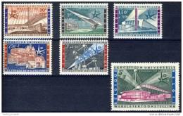 D- N° 1047/52 Expo 58, Pavillons, Atomium, Neuf ** TB - 1958 – Bruxelles (Belgique)