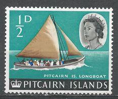 Pitcairn Islands 1964. Scott #39 (M) Pitcairn Longboat * - Timbres