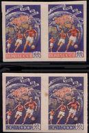 Russia 1958 M 2089 - 2090 B Sport Footbal World Cup, Two Stamps - A Park - Fußball-Weltmeisterschaft