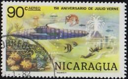 NICARAGUA - Scott #C942 Jules Verne, 20,000 Leagues Under The Sea / Used Stamp - Nicaragua