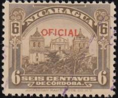 NICARAGUA - Scott #O337 Leon Cathedral 'Overprinted' (*) / Used Stamp - Nicaragua