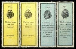EL SALVADOR, Tobacco And Liquor Tax Strips, (*) MNG, F/VF - Salvador