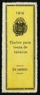 EL SALVADOR, Tobacco Tax, (*) MNG, F/VF - Salvador