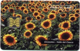 COLOMBIA : COLEM13 PRON TEL$4000 Girasoles Flower MINT - Colombia