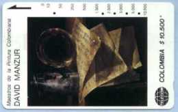 COLOMBIA : COLMT21 $10500 DAVID MANZUR 1987 Bodegon USED - Colombia