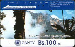 VENEZUELA : VEND03A Bs. 100 Salto Angel Brown Rev. No Pictures USED - Venezuela