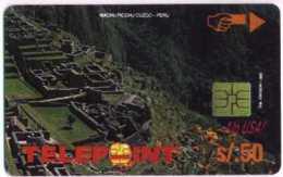 PERU : PTE-036A 50 NS Machu 4/4 BANCO MERCANTI (PTD005/D2 EX2000 ! USED - Peru