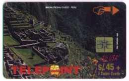 PERU : PTE-043 45+5  Machu 4/4 MEGAFONDO PTD006/D2 EX2500  !! USED - Peru