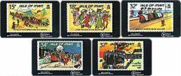 MANISLAND : MAN026S Stamps Of I.O.M. (set Of 5 ) Folklore MINT - Isle Of Man