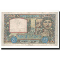 France, 20 Francs, 1941-9-18, KM:92b, TTB, Fayette:12.18 - 1871-1952 Anciens Francs Circulés Au XXème