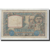 France, 20 Francs, 1940-10-17, KM:92b, TB, Fayette:12.9 - 1871-1952 Circulated During XXth