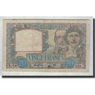 France, 20 Francs, 1940-10-17, KM:92b, TB, Fayette:12.9 - 1871-1952 Anciens Francs Circulés Au XXème