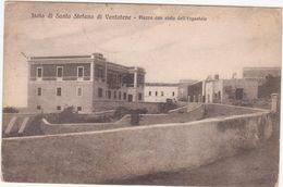 M349 ISOLA DI SANTO STEFANO DI VENTOTENE LATINA PIAZZA CON VISTA ERGASTOLO 1922 - Latina