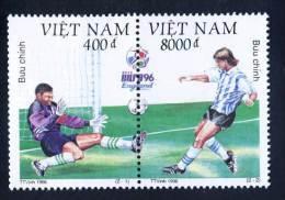 Vietnam Viet Nam MNH Perf Stamps With Se-tenant 1996 : European Cup Football Championship (Ms735) - Vietnam