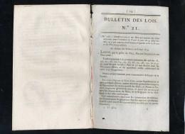 1929-bulletin Des Lois-ref-21202      1814  N°21  Creances à Liquider Entre France Et Puissances Alliées Etc.. 6 Pages   - Decrees & Laws