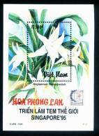 Vietnam Viet Nam MNH Perf Souvenir Sheet 1995 : Orchid (Ms717B) - Vietnam