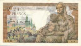 H20 - Billet - 1000 FRANCS  - DÉESSE DEMETER - 1 000 F 1942-1943 ''Déesse Déméter''