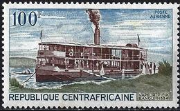 "Central African Republic 1968 - The Boat ""Piex Bangui"" ( Mi 179 - YT Pa 65 ) MNH** - Repubblica Centroafricana"